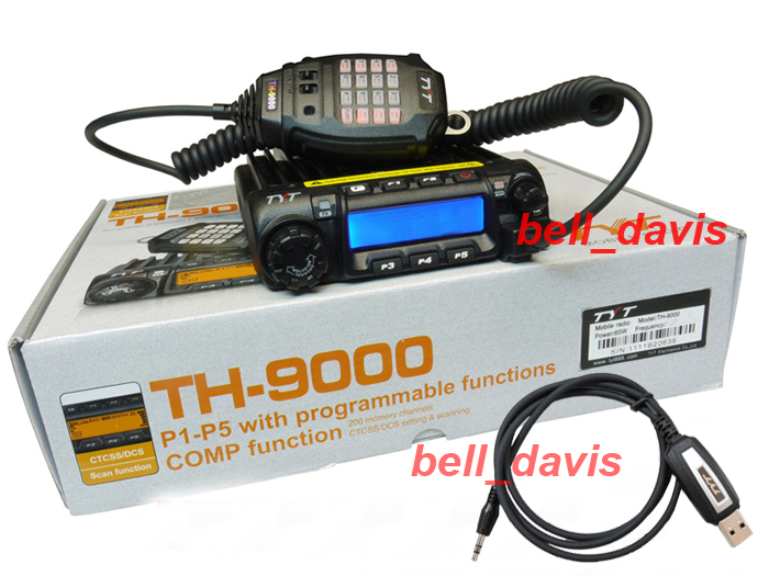tyt th 9000d uhf 400 490mhz scrambler mobile car radio mic tyt th 9000 uhf 400 490mhz mobile car radio mic usb program cable cd