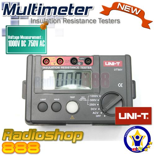 Uni T Insulation Resistance Tester Ut501 Ebay