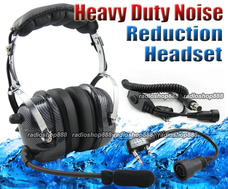 Details about 4-081 + 44-K Heavy duty Noise Cancelling Headset for Wouxun  Puxing Baofeng