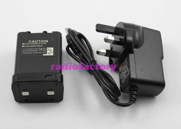 SUNDELY High Capability 2500mAh Lithium-ion Battery /& Smart Charger Combo for Kenwood Radio TH-27 TH-28 TH-47 TH-48 TH-78 PB-13
